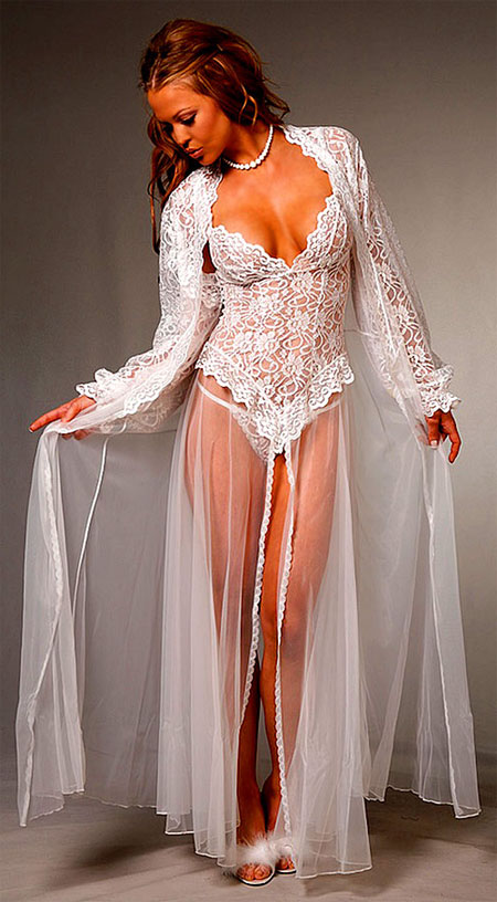 Bridal Lace Peignoir Set
