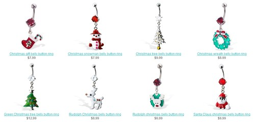 Christmas Cute Belly Rings